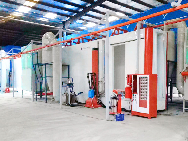 Automatic powder coating machine powder coating production line