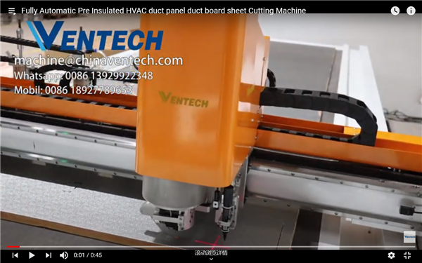 Fully Automatic Pre Insulated HVAC Duct Panel Duct Board Sheet Cutting Machine