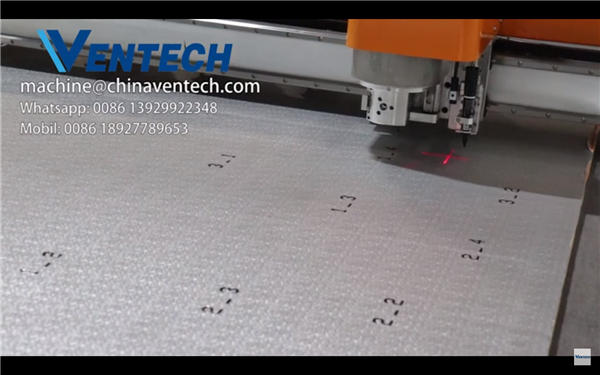Items Marking CNC machine for Pre insulated Phenolic Foam Duct panel by VENTECH China