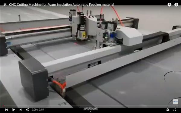 CNC Cutting Machine With Automatic Material Feeding Fom Insulattion Foam